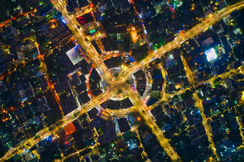 Circle of city