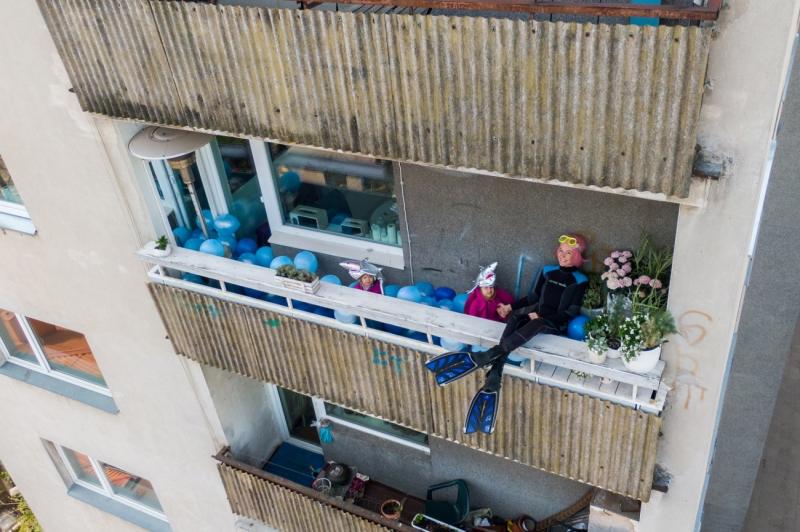 Sharks in the balcony