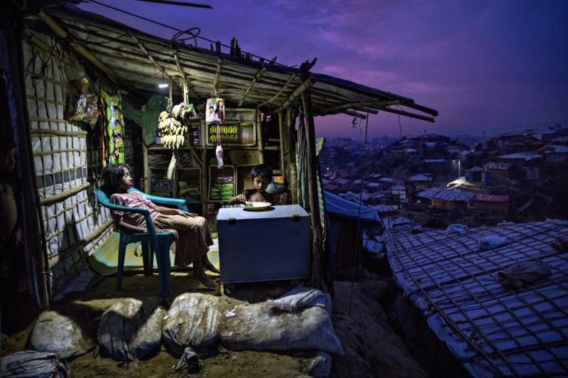 Dinner - Rohingya Refugees in Bangladesh
