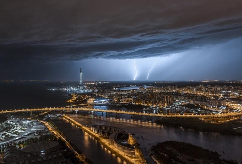Thunderstorm in St. Petersburg