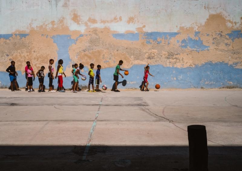 Basketball training in Morro