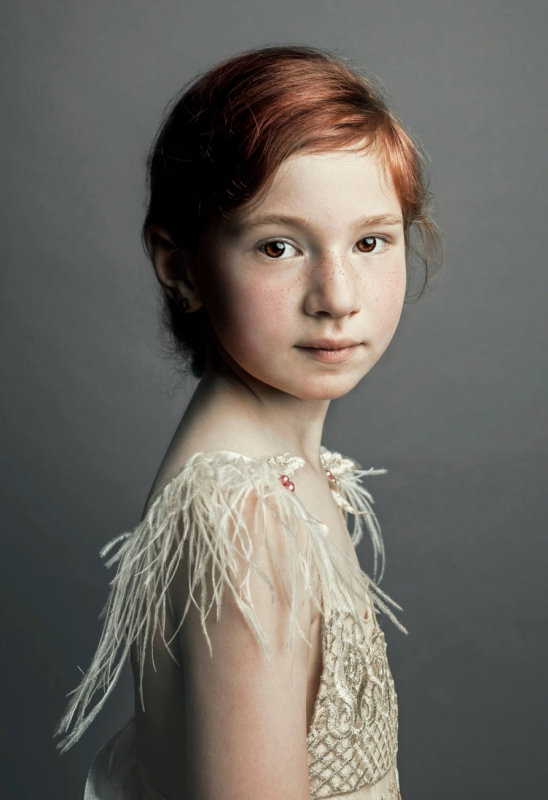 Girl with feather