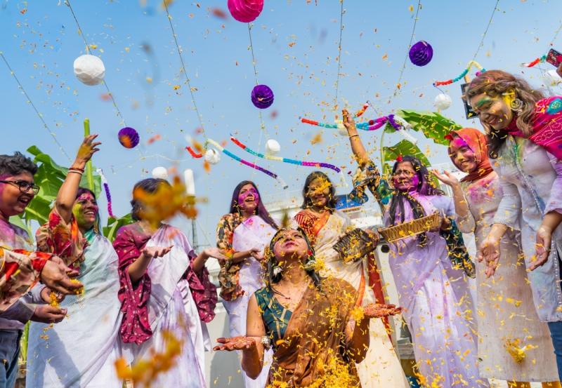 Celebrating the Holud Ceremony
