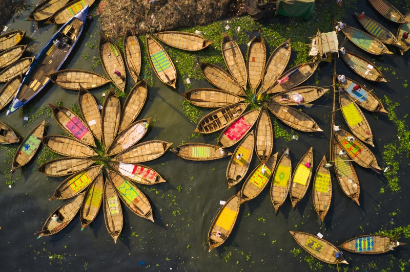 Traditional Wooden Boats and Life