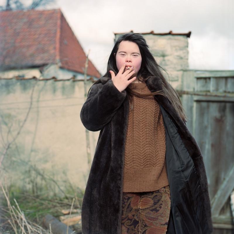 Sofie with cigarette