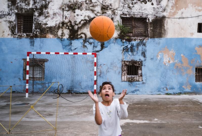 Basketball in Morro sports area