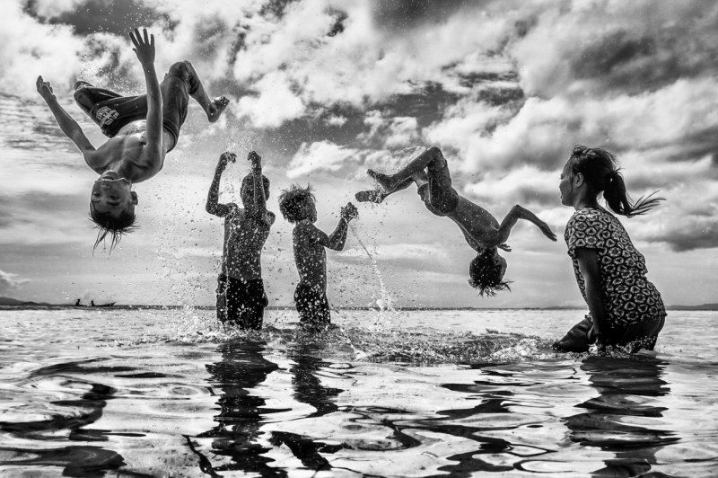 Children Happy Jump